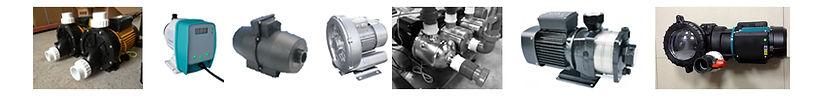 Water pumps air turbines