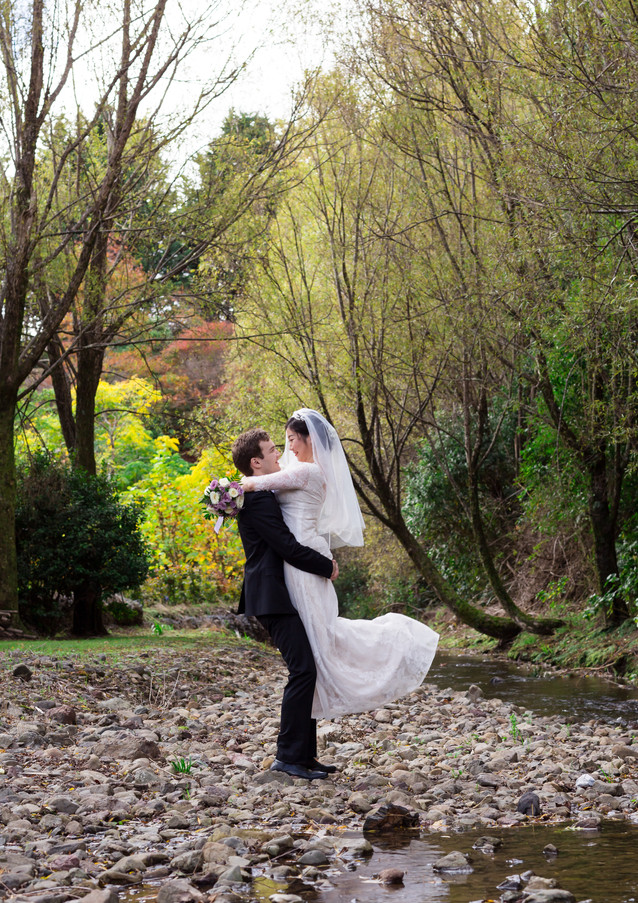 Bride and Groom country garden wedding photography at Aston Norwood Kaitoke in Wellington, New Zealand