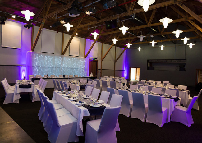 Large indoor wedding reception at Silverstream Retreat Wellington Wedding