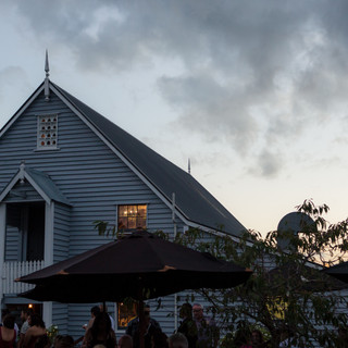evening photo of the barn at Tarureka Estate Wellington Wedding Photo