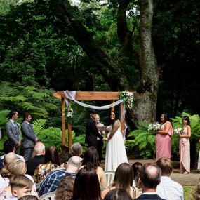 outdoor ceremony wedding photography at Tatum Park in Wellington, New Zealand