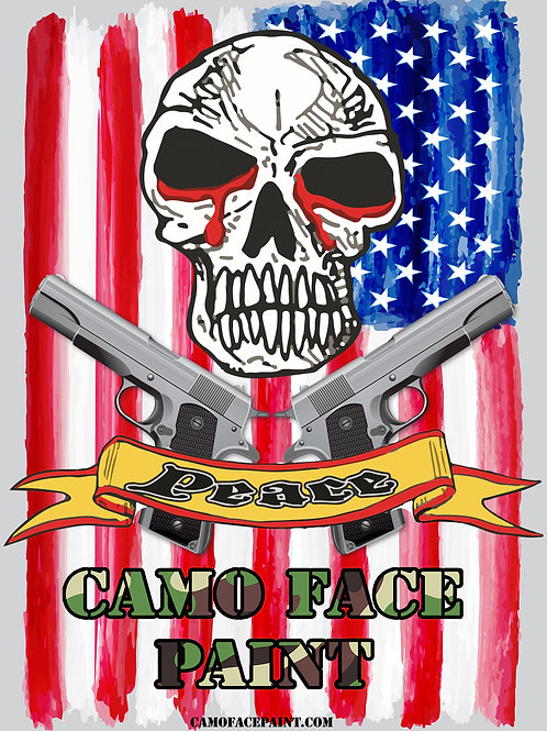 """Camo Face Paint """"Flag"""" Signed Poster"""