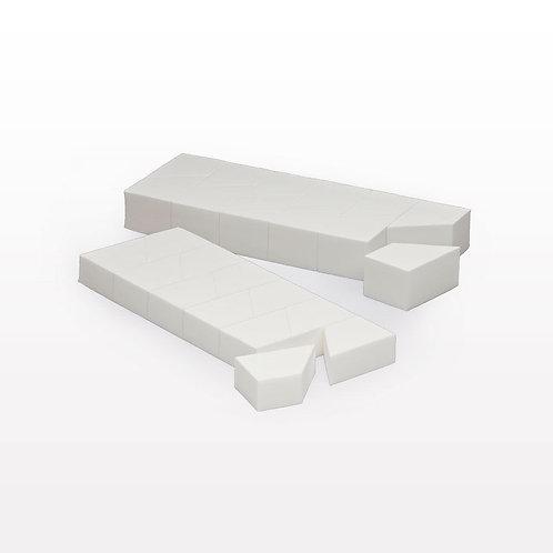 Extra Thick Sponge Block / White