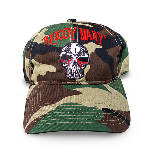 Bloody Mary Limited Edition Camouflage Green Embroidered Strap-Back Adjustable B