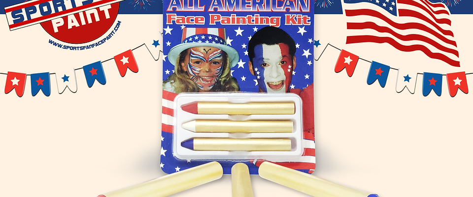 All American Face Paint Kit (3 pc/ Crayons)