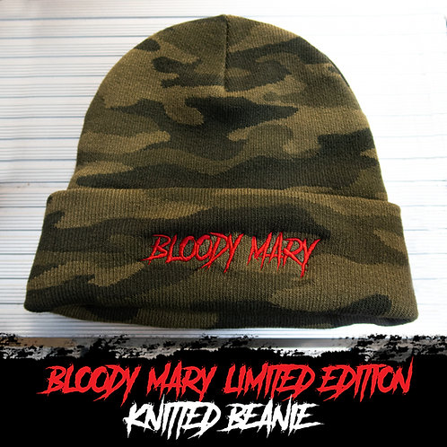 Bloody Mary Limited Edition Camo Knitted Beanie