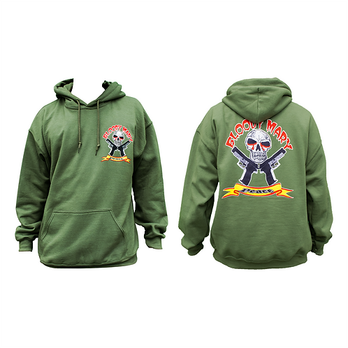 Bloody Mary Peace Green Pullover Hooodie