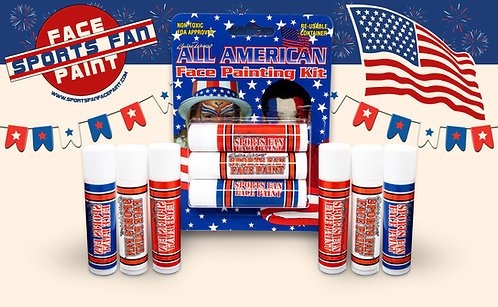 All American Face Paint Stick Kit