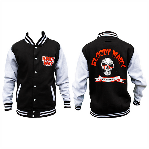 Bloody Mary Peace Grey Letterman Jacket