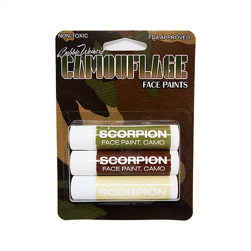 3 Scorpion Camouflage Sticks on Blister Card