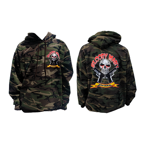 "Bloody Mary Camouflage ""Peace"" Pull Over Hoodie"