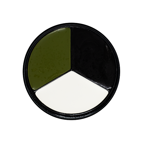 Tri-Color Witch Face Paint Kit (Green, White, Blk)