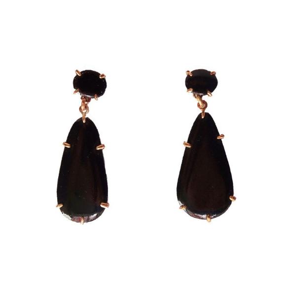 mid prong drop earrings