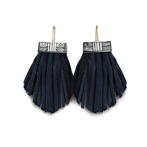 tassel cage earrings - nightswimming