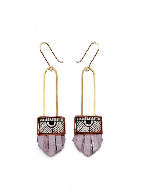 short regalo earrings: Lilac
