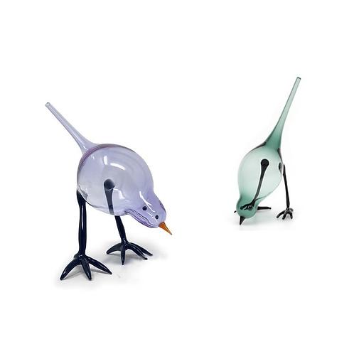 blown glass bird