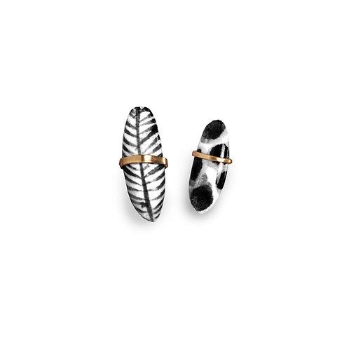 ceramic post earrings