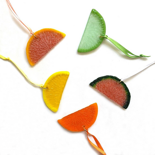 citrus slice ornaments