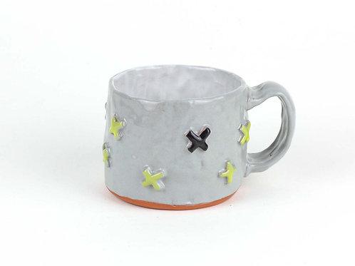 yellow & black x's mug