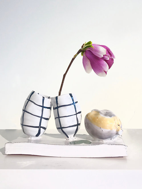 ceramic sculptural bud vase