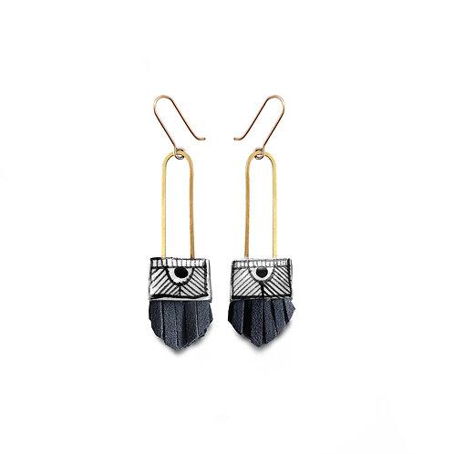 regalo shortie earrings - nightswimming