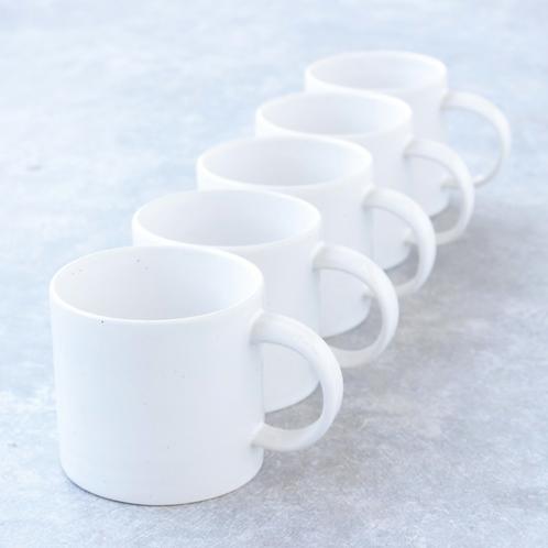 straight sided hand thrown mug