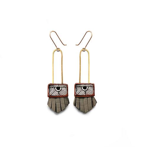 regalo shortie earrings - pebble