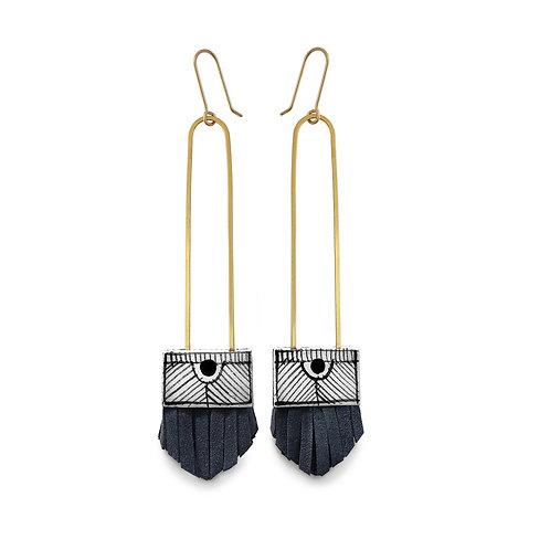 regalo long tassel earrings - nightswimming