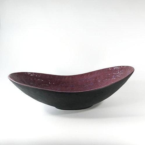 large hand built ceramic serving bowl