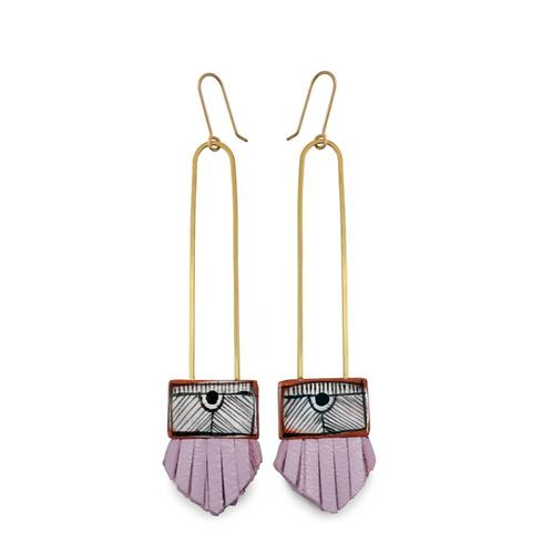 long regalo earrings: lilac