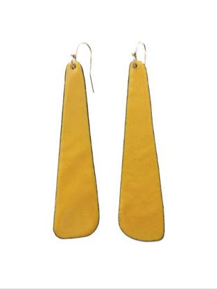 long slab earrings