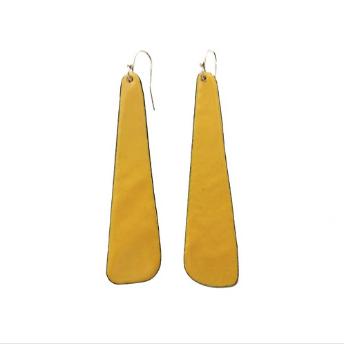 long slab earrings