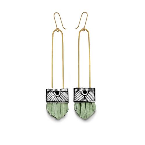 long regalo earrings: Mint