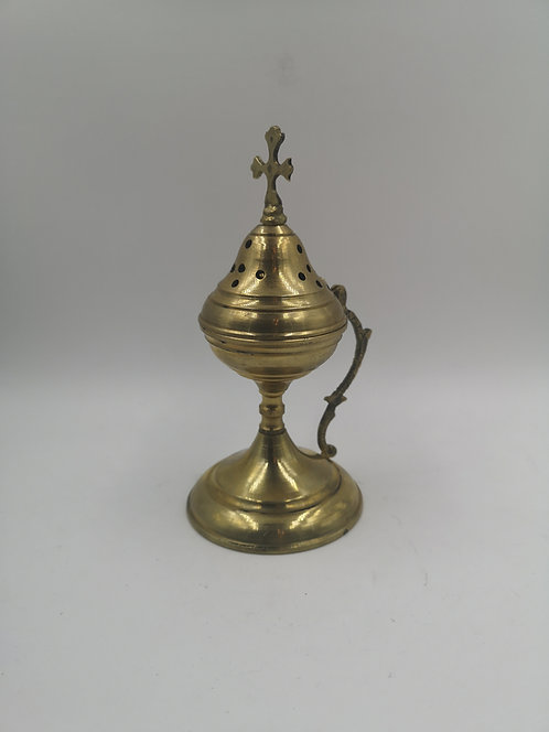 Christian brass incense burner