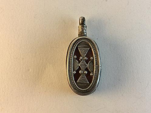 Afghan Kazakh Silver Pendant