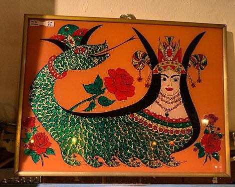Shahmaran underglass painting