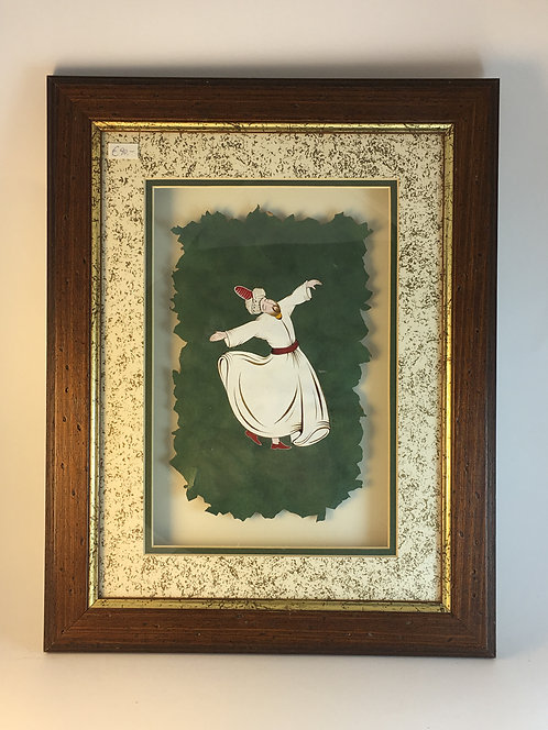 Whirling Dervish on Hand Made Paper