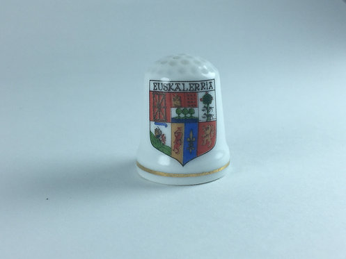 Spanish Porcelain Memorial Thimble