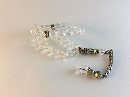 Clear Quartz Prayer Bead