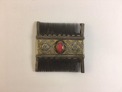 Turcoman Silver Wood Comb