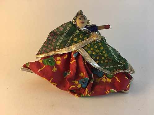 Indian Dancer Wooden Baby Doll