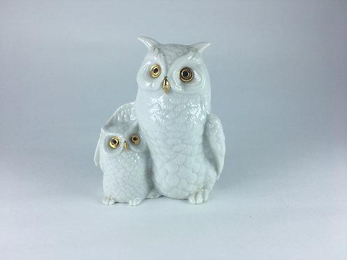 Mother&Child Porcelain Owl Set