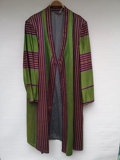 Uzbek striped silk men's khaftan