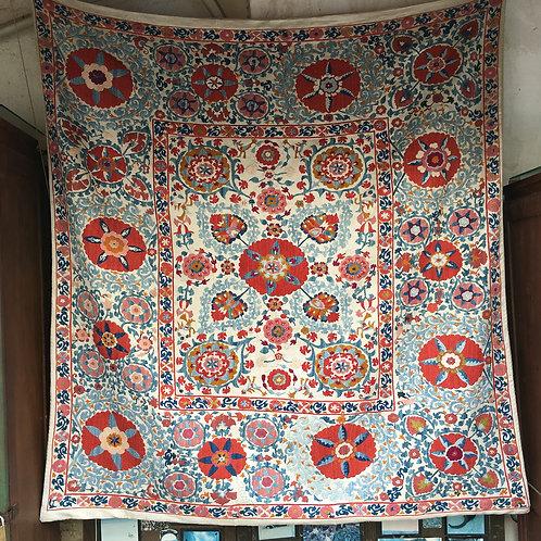 Nurata Silk Square Suzani Fine Embroidery