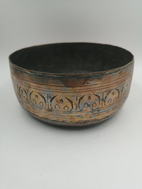 Ottoman copper hamam bath bowl 1900s