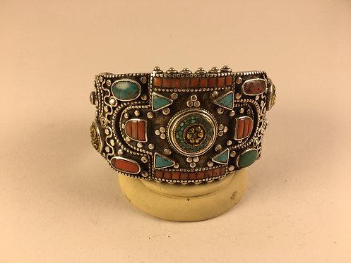 Tibetan Nepalese Silver Bracelet.