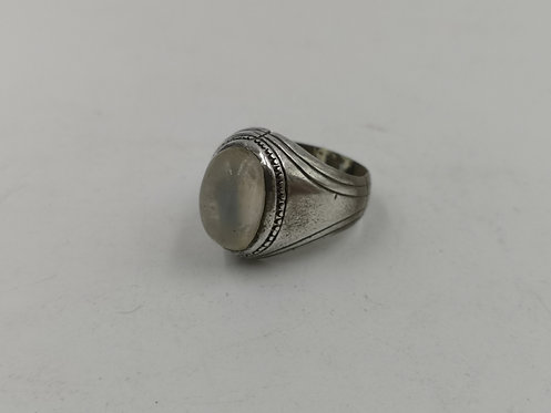 Iranian agate silver ring