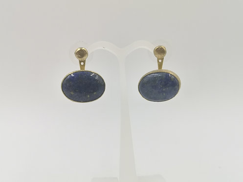 Gold plated Bronze Earrings lapis