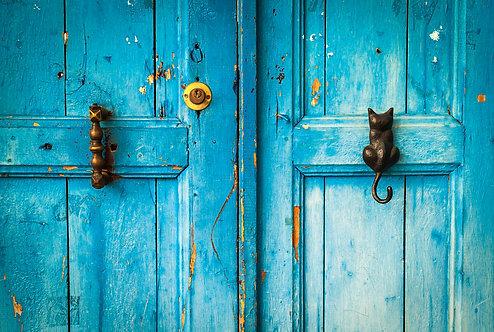 "Postcard ""Kaş, Blue Door"""