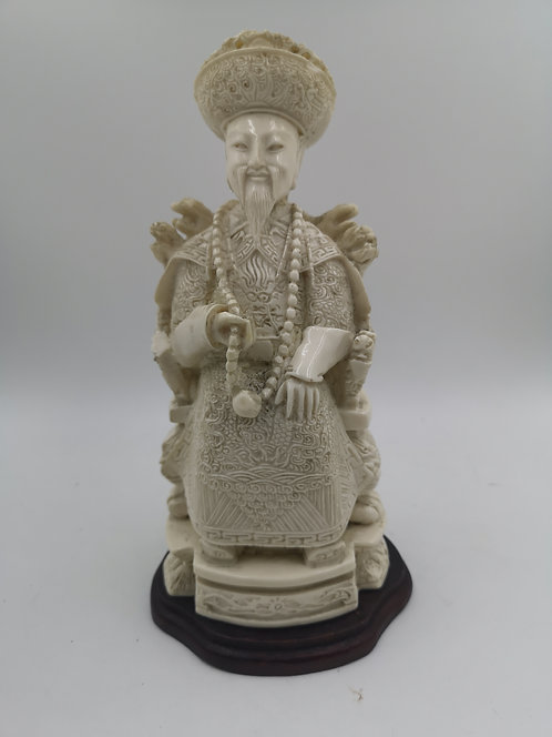 19th century ivory emperor carving